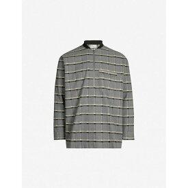 ドロール ド ムッシュ DROLE DE MONSIEUR メンズ ポロシャツ トップス【check pattern brushed cotton polo shirt】Grey jqd