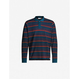 カーハート CARHARTT WIP メンズ ポロシャツ トップス【Novi striped cotton-pique polo shirt】Novi stripe duck blue