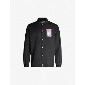 ア ベイシング エイプ A BATHING APE メンズ ジャケット コーチジャケット シェルジャケット アウター【Graphic-print shell coach jacket】BLACK