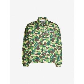 ア ベイシング エイプ A BATHING APE メンズ ジャケット シェルジャケット アウター【A Bathing Ape ABC shell jacket】GREEN