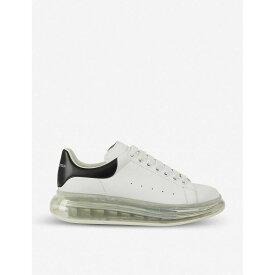 アレキサンダー マックイーン ALEXANDER MCQUEEN レディース スニーカー シューズ・靴【Ladies Runway transparent-sole leather trainers】WHITE/BLK