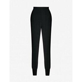 ステラ マッカートニー STELLA MCCARTNEY レディース スキニー・スリム ボトムス・パンツ【Julia slim-fit stretch-crepe trousers】BLACK