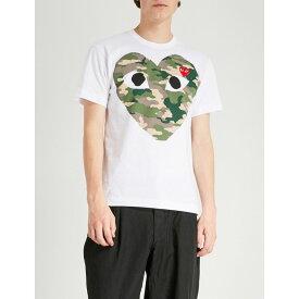 コム デ ギャルソン COMME DES GARCONS PLAY メンズ Tシャツ トップス【Big heart camouflage cotton-jersey T-shirt】WHITE