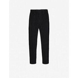 イッセイ ミヤケ HOMME PLISSE ISSEY MIYAKE メンズ ボトムス・パンツ 【Pleated tapered trousers】BLACK