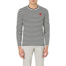 コム デ ギャルソン COMME DES GARCONS PLAY メンズ スウェット・トレーナー トップス【Striped cotton jumper】BLACK