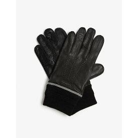 テッドベーカー TED BAKER メンズ 手袋・グローブ 【Quirky leather gloves】BLACK