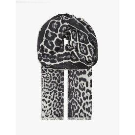 イヴ サンローラン SAINT LAURENT レディース マフラー・スカーフ・ストール 【Leopard print silk scarf】Grey Leo