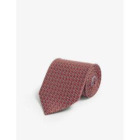 サルヴァトーレ フェラガモ SALVATORE FERRAGAMO メンズ ネクタイ 【Contrast Gianco silk tie】ROSSO
