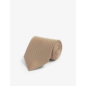 サルヴァトーレ フェラガモ SALVATORE FERRAGAMO メンズ ネクタイ 【Gancini rope silk tie】Arancio Grigio
