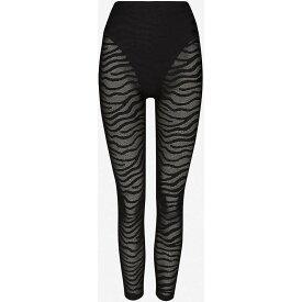 アダム セルマン ADAM SELMAN SPORT レディース スパッツ・レギンス インナー・下着【french cut animal-print high-rise stretch-mesh leggings】BLACK