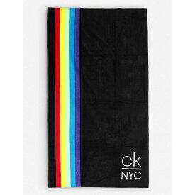 カルバンクライン CALVIN KLEIN レディース ビーチタオル 水着・ビーチウェア【nyc pride cotton beach towel】Beh Pvh Black