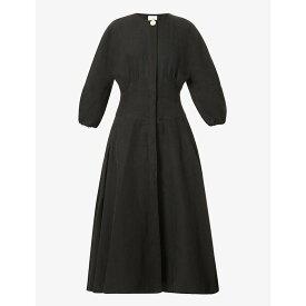 ルカシャ LE KASHA レディース ワンピース ワンピース・ドレス【Helwan linen dress】BLACK