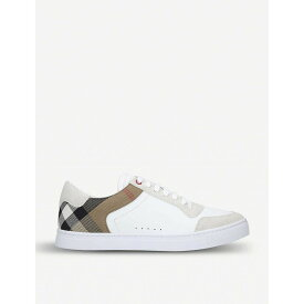 バーバリー BURBERRY メンズ スニーカー シューズ・靴【Reeth leather and suede low-top trainers】WHITE/COMB