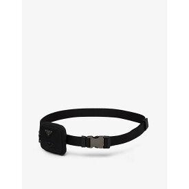プラダ PRADA メンズ ベルト 【Woven recycled-nylon belt with pouch】Black