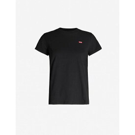 リーバイス LEVIS レディース Tシャツ トップス【The Perfect cotton-jersey T-shirt】Mineral Black