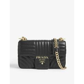 プラダ PRADA レディース ショルダーバッグ バッグ【Diagramme small quilted-leather shoulder bag】BLACK GOLD