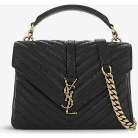 イヴ サンローラン SAINT LAURENT レディース ハンドバッグ サッチェルバッグ バッグ【Monogram Collge small quilted leather satchel bag】BLACK GOLD