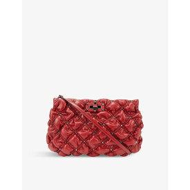 ヴァレンティノ VALENTINO GARAVANI レディース クラッチバッグ バッグ【Spike Me large leather quilted-leather shoulder bag】ROSSO RED