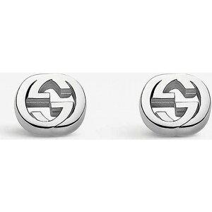 グッチ GUCCI レディース イヤリング・ピアス スタッドピアス ジュエリー・アクセサリー【Interlocking G Sterling Silver Stud Earrings】SILVER