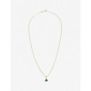 エッジオブエンバー EDGE OF EMBER レディース ネックレス チャーム ジュエリー・アクセサリー【Green Onyx Charm 18K Gold-Plated Necklace】GOLD