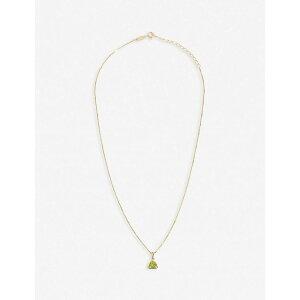 エッジオブエンバー EDGE OF EMBER レディース ネックレス チャーム ジュエリー・アクセサリー【Peridot Charm 18K Gold-Plated Necklace】GOLD