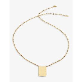 モニカ ヴィナダー MONICA VINADER レディース ネックレス ジュエリー・アクセサリー【Siren Muse Id Recycled 18Ct Yellow Gold-Plated Vermeil On Sterling Silver Necklace】GOLD
