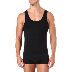 ハンロ hanro メンズ インナー ボクサーパンツ・トランクス【core precision cotton-blend vest】Black