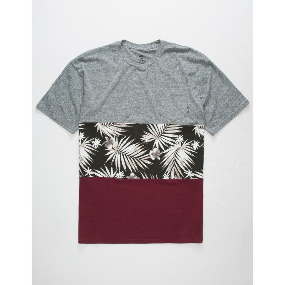 ヴァンズ メンズ トップス Tシャツ【Tropic Pocket Tee】BLACK