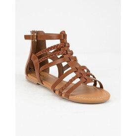 ソーダ SODA レディース シューズ・靴 サンダル・ミュール【Braid Back Zip Tan Gladiator Sandals】TAN