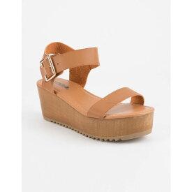 ソーダ SODA レディース シューズ・靴 サンダル・ミュール【Ayla Black Platform Sandals】TAN