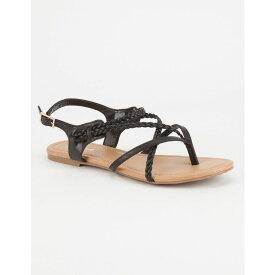 ソーダ SODA レディース シューズ・靴 サンダル・ミュール【Criss Cross Braided Sandals】BLACK