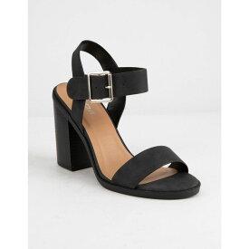 ソーダ SODA レディース シューズ・靴 サンダル・ミュール【Talbert Natural Heeled Sandals】BLACK