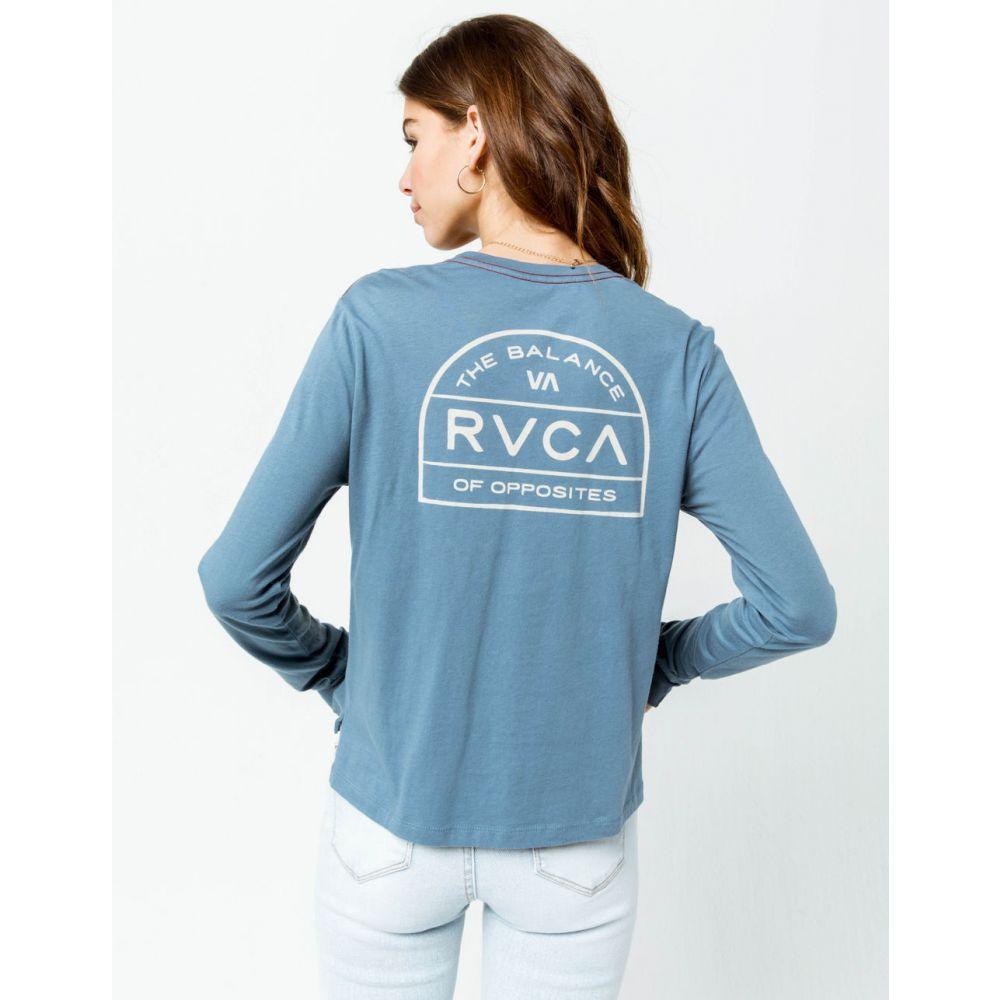 ルーカ RVCA レディース トップス ベアトップ・チューブトップ・クロップド【Archers Crop Pocket Tee】BLUE