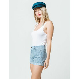 ルーカ RVCA レディース ボトムス・パンツ ショートパンツ【Hi Roller High Rise Washed Stripe Denim Shorts】WASHED STRIPE