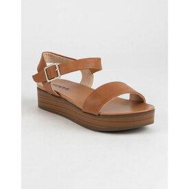 ソーダ SODA レディース シューズ・靴 サンダル・ミュール【Nebula Platform Tan Flatform Sandals】TAN