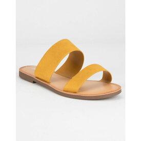 ソーダ SODA レディース シューズ・靴 サンダル・ミュール【Double Strap Black Sandals】MUSTARD