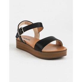 ソーダ SODA レディース シューズ・靴 サンダル・ミュール【Nebula Platform Tan Flatform Sandals】BLACK