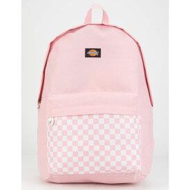 ディッキーズ DICKIES レディース バッグ バックパック・リュック【Red Label Checkered Black Backpack】PINK