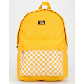 ディッキーズ DICKIES レディース バッグ バックパック・リュック【Red Label Checkered Black Backpack】YELLOW