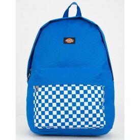 ディッキーズ DICKIES レディース バッグ バックパック・リュック【Red Label Checkered Black Backpack】BLUE