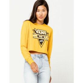 ヴァンズ VANS レディース 長袖Tシャツ トップス【Breakdown Yellow Tee】YELLOW
