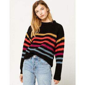 ボルコム VOLCOM レディース ニット・セーター トップス【Move On Up Sweater】BLACK COMBO