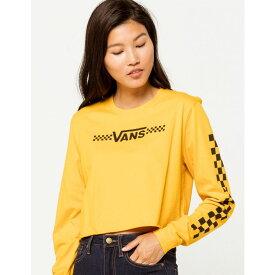 ヴァンズ VANS レディース ベアトップ・チューブトップ・クロップド トップス【Funnier Times Yellow Crop Tee】YELLOW
