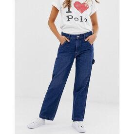 ラルフ ローレン Polo Ralph Lauren レディース トップス ポロシャツ【Polo Sports flag logo utility jeans】Mid blue