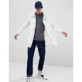 ペンフィールド メンズ アウター コート【Pancho Long Nylon Concealed Hood Parka Jacket in White】Ecru