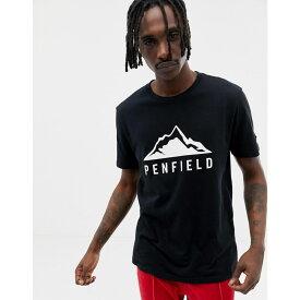 ペンフィールド Penfield メンズ トップス Tシャツ【Augusta Mountain logo front t-shirt in black】Black