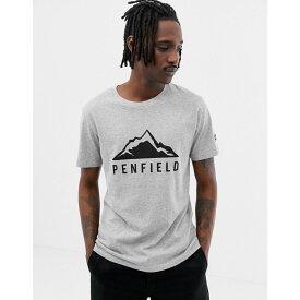 ペンフィールド Penfield メンズ トップス Tシャツ【Augusta Mountain logo front t-shirt in grey marl】Grey