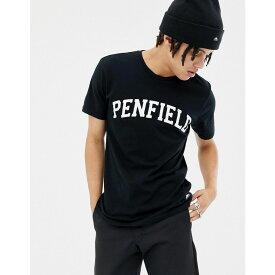ペンフィールド Penfield メンズ トップス Tシャツ【Collegiate logo t-shirt in black】Black