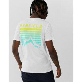 ペンフィールド Penfield メンズ トップス Tシャツ【Caputo back print t-shirt in white】White