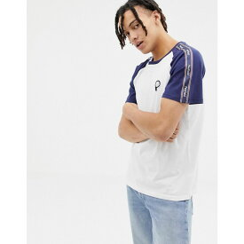 ペンフィールド Penfield メンズ トップス Tシャツ【Kenney bear logo side tape raglan t-shirt in white/navy】White